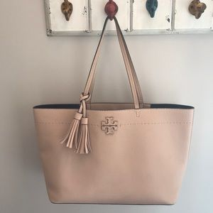 Tory Burch McGraw tote sand color